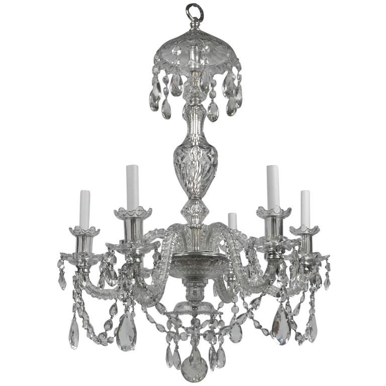 Most Recent Georgian Style Cut Crystal Six Light Chandelier,e. F (View 6 of 10)