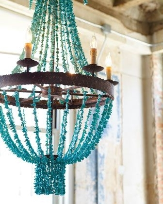 Most Recent Regina Andrew Design Turquoise Beads Six Light Chandelier (View 4 of 10)