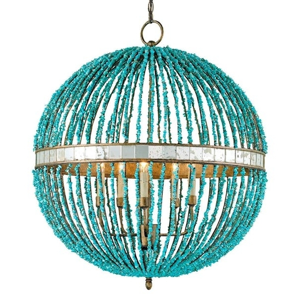 Featured Photo of Small Turquoise Beaded Chandeliers