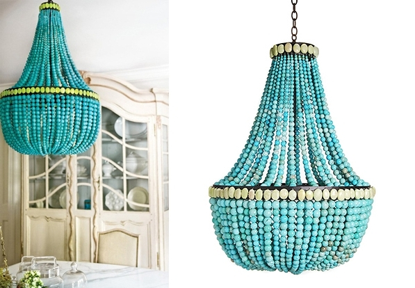 Most Recent Turquoise Chandeliers – Decoholic With Turquoise Chandelier Lights (View 4 of 10)