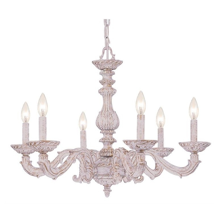 Most Recent White Shabby Chic Chandelier Within Shabby Chic Chandeliers (View 5 of 10)