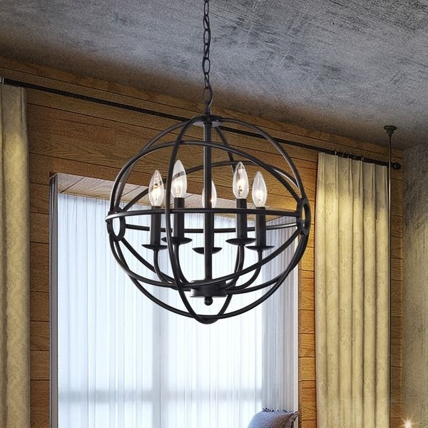 Most Recently Released Antique Black Chandelier With Regard To Make A Statement With This One Of A Kind Globe Chandelier (View 8 of 10)