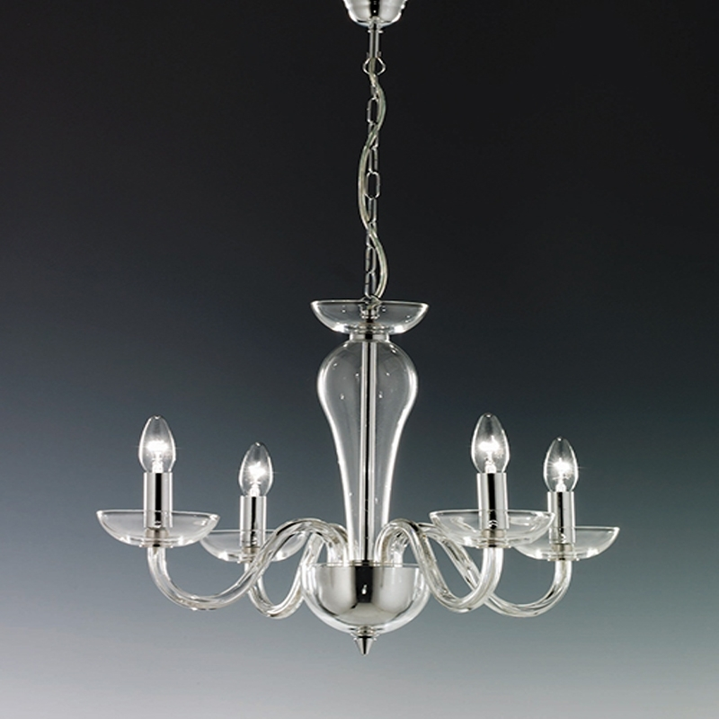 Most Recently Released Elstead Oxford 8 Light Chrome Glass Ceiling Chandelier Ox8 Intended Throughout Chrome And Glass Chandeliers (View 7 of 10)