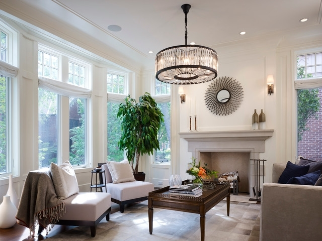 Most Recently Released Lincoln Park – Fremont – Traditional – Living Room – Chicago – With Living Room Chandeliers (View 7 of 10)