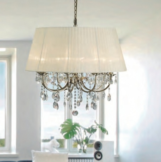 Most Recently Released Madmoiselle Cream Shaded Crystal Chandelier For Cream Crystal Chandelier (View 7 of 10)