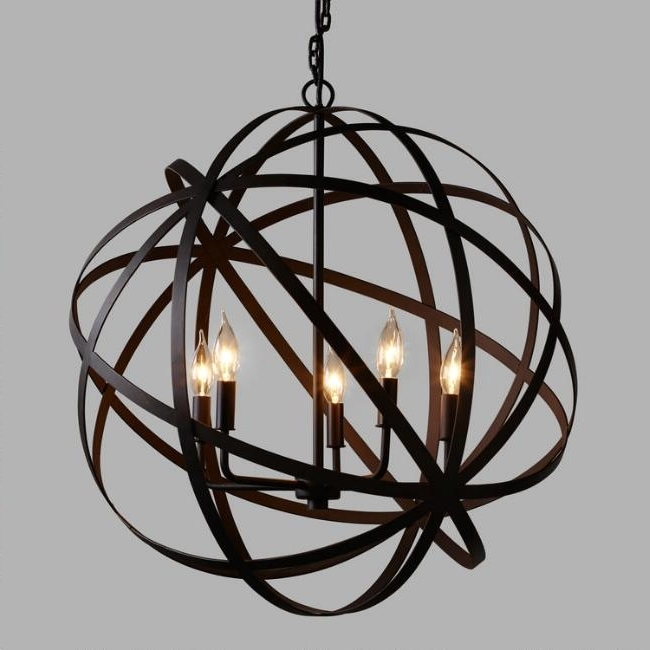 Most Recently Released Metal Sphere Chandelier Throughout Chandelier (View 3 of 10)