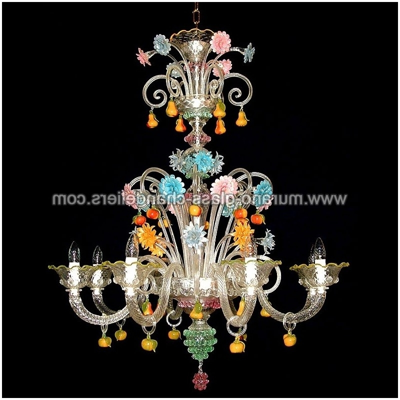 "Most Recently Released Murano Chandelier In Tripudio"" Murano Glass Chandelier – Murano Glass Chandeliers (View 6 of 10)"