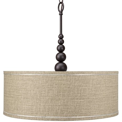 "Most Recently Released Revel Adelade 22"" Fabric Drum Shade Chandelier+glass Diffuser, Oil With Regard To Fabric Drum Shade Chandeliers (View 9 of 10)"