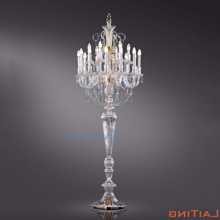 Most Recently Released Standing Chandeliers Pertaining To Crystal Chandelier Floor Standing Lamp, Crystal Chandelier Floor (View 5 of 10)