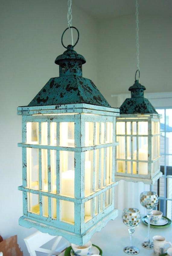 Most Recently Released Turquoise Lantern Chandeliers Intended For Rustic Lantern Chandelier Hndsome Home Improvement Shows – Boscocafe (View 2 of 10)