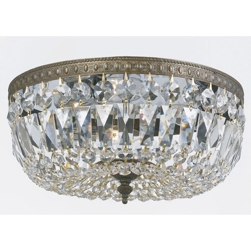 Most Recently Released Wall Mount Crystal Chandeliers In Bedroom Extraordinary Flush Mount Crystal Chandelie Home Decor (View 4 of 10)