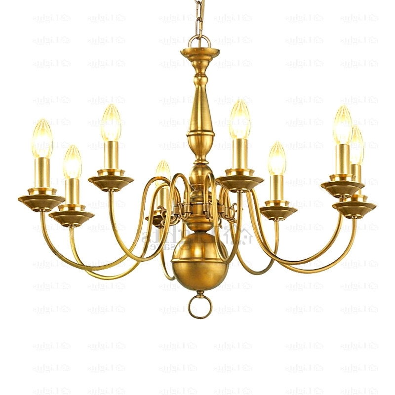 Most Up To Date 8 Light E12/e14 Screw Base Brass Chandeliers Within Brass Chandeliers (View 6 of 10)