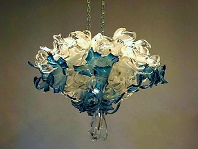Featured Photo of Turquoise Blown Glass Chandeliers