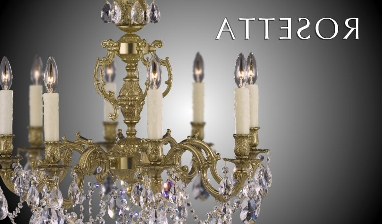 Most Up To Date Brass & Crystal Chandelier (View 4 of 10)