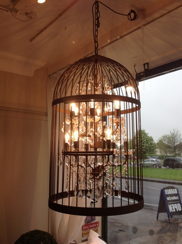 Most Up To Date Caged Chandelier In Chandelier: Glamorous Caged Chandelier Square Cage Chandelier (View 8 of 10)