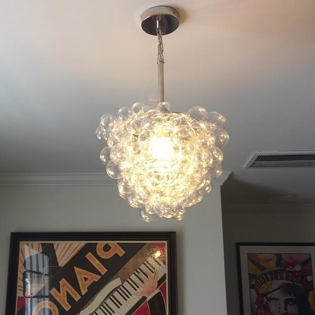 Most Up To Date Glass Droplet Chandelier Pertaining To I'm A Little In Love With This Glass Bubble Pendant From @westelm (View 5 of 10)