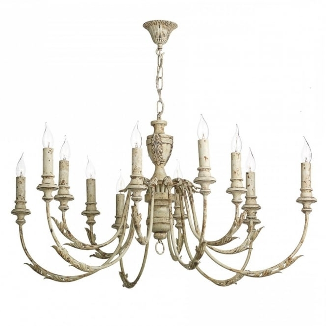 Most Up To Date Large Vintage French Style Chandelier Light Fitting (View 8 of 10)