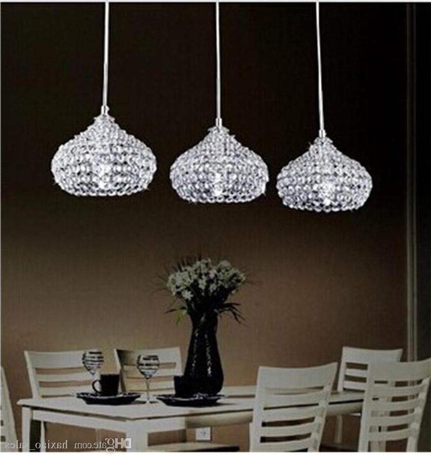 Most Up To Date Modern Chandeliers Led Crystal Ball Pendant Lamp K9 Crystal Ceiling Throughout Modern Chandeliers (View 10 of 10)