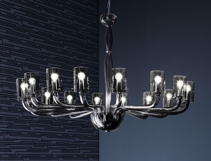 Most Up To Date Modern Glass Chandeliers With Regard To Modern Chandeliers – Murano Lighting (View 9 of 10)