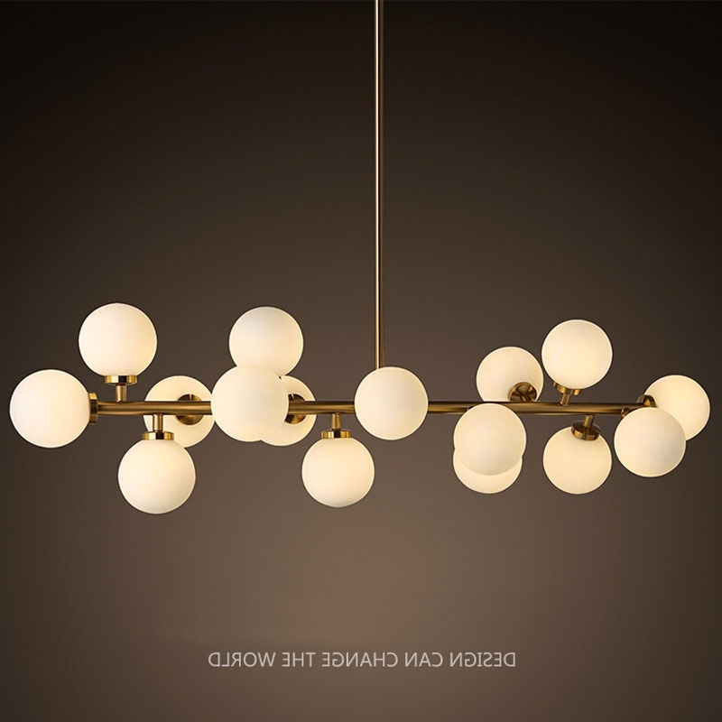 Most Up To Date Modern Light Chandelier With Regard To Modern Led Chandelier Light Fitting 16 Led Lights Bubble Chandelier (View 9 of 10)