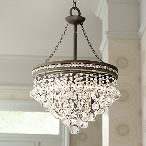 "Most Up To Date Regina Olive Bronze 19"" Wide Crystal Chandelier – – Amazon Inside Bronze And Crystal Chandeliers (View 4 of 10)"