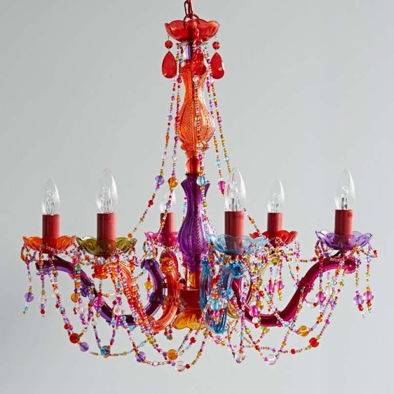 Multi Coloured Chandelier Ceiling Light – Chandelier Designs Pertaining To Famous Coloured Chandeliers (View 6 of 10)