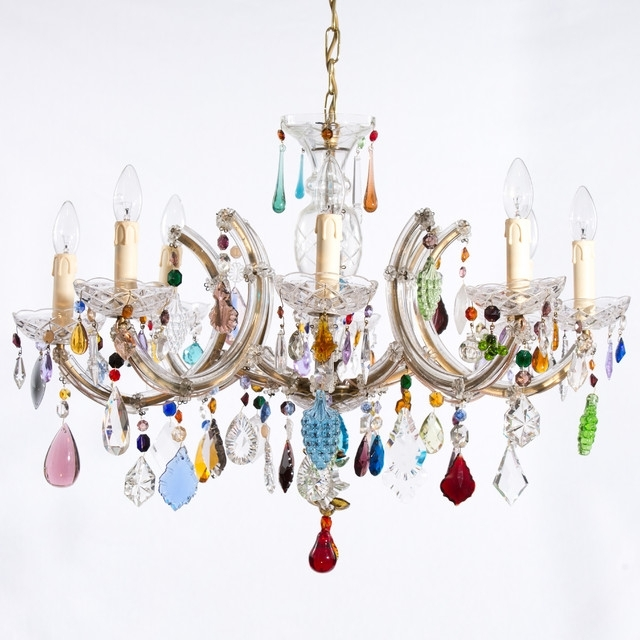 Multi Coloured Chandelier Eclectic Chandeliers London Funky Throughout Famous Coloured Chandeliers (View 7 of 10)