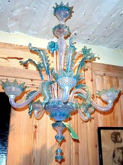 Murano) Blown Glass Chandelier Pertaining To 2017 Turquoise Blown Glass Chandeliers (View 4 of 10)