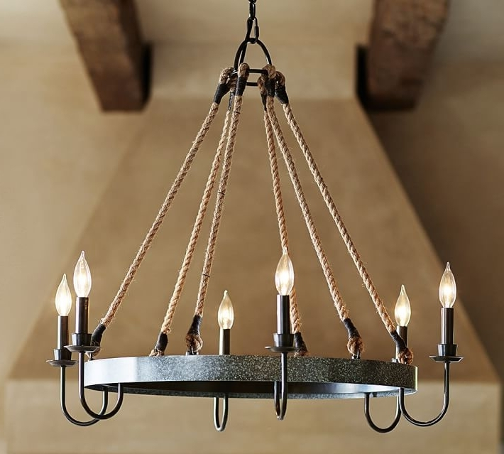 Napa Wine Barrel Chandelier (View 8 of 10)
