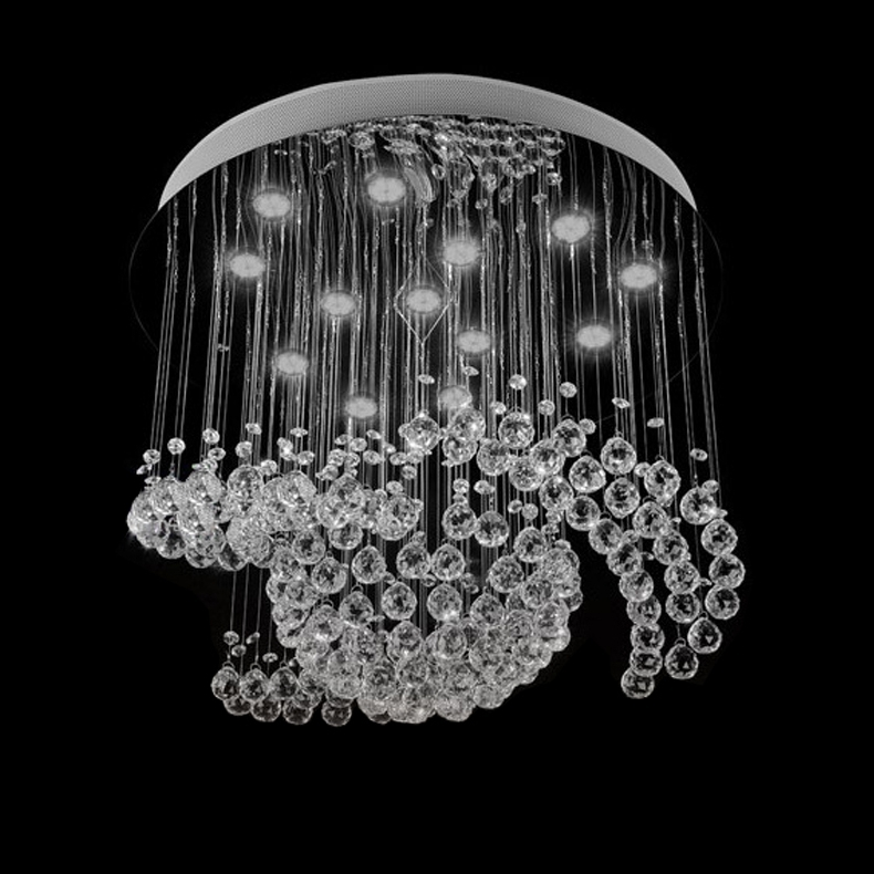 New Design Large Crystal Chandelier Lights Dia80*h100Cm Ceiling In Well Known Chandelier Lights (View 9 of 10)