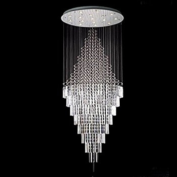 "New ! Modern Contemporary Chandelier ""rain Drop"" Chandeliers H 100 Inside 2018 Contemporary Chandeliers (View 9 of 10)"