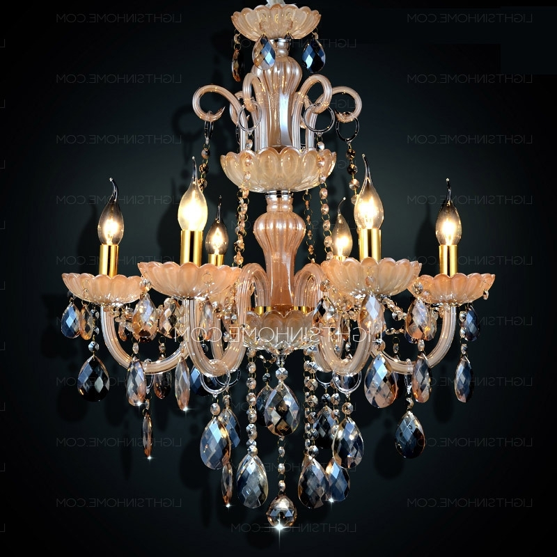 Newest Antique Style Chandeliers In 6 Lights Antique Style For Living Room Crystal Chandeliers Wholesale (View 8 of 10)