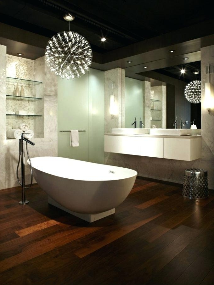 Featured Photo of Modern Bathroom Chandelier Lighting