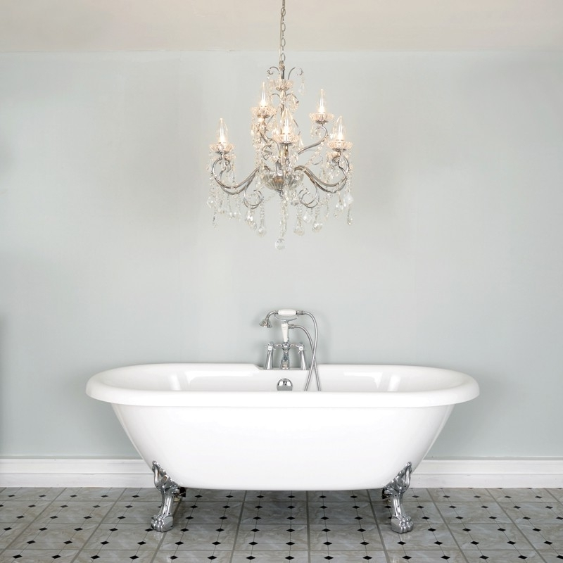 Newest Bathroom Chandelier Wall Lights Throughout Vela 9 Light Chandelier – Lighting Direct (View 8 of 10)