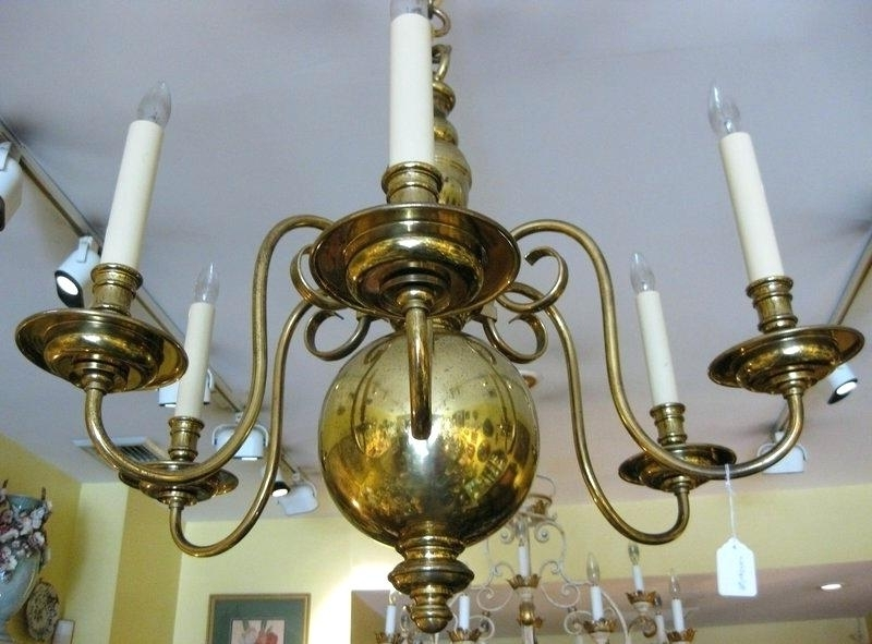 Newest Black And Brass Chandelier Play On A Fixture This Design Comes In A Inside Old Brass Chandeliers (View 4 of 10)