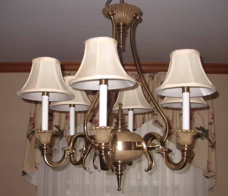Newest Chandelier Lampshades Throughout Ne Ohio Lampshade Restoration, Chandelier Candlelight Shades (View 5 of 10)