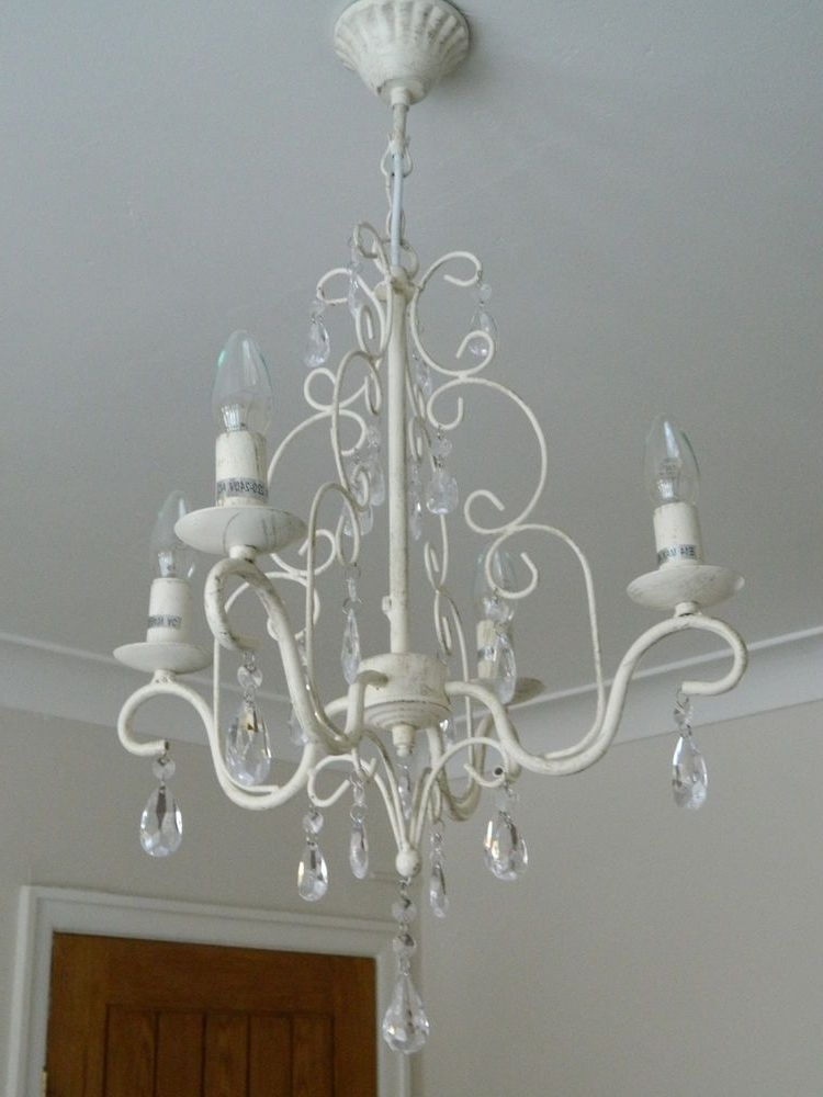 Newest Cream Chandelier Light Fitting Shabby Vintage Chic Bedroom Hallway In Cream Chandelier Lights (View 9 of 10)