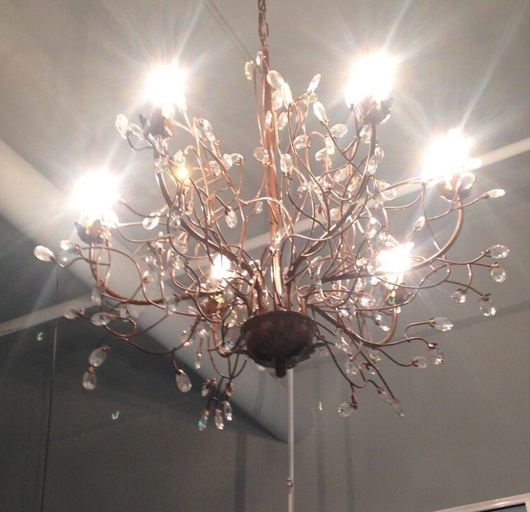 Newest D74Cm Nordico K9 Retro Branches Crystal Chandelier 6 Lights Bedroom In Crystal Branch Chandelier (View 10 of 10)