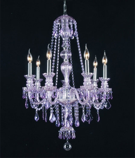 Newest G46 Purplesm4907 Chandelierking Royal Collection Purple For Elegant Pertaining To Purple Crystal Chandeliers (View 4 of 10)