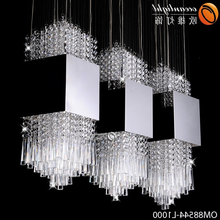 Newest Hot Sale Modern Crystal Chandelier Lighting,diy Stainless Steel For Long Chandelier Lighting (View 6 of 10)