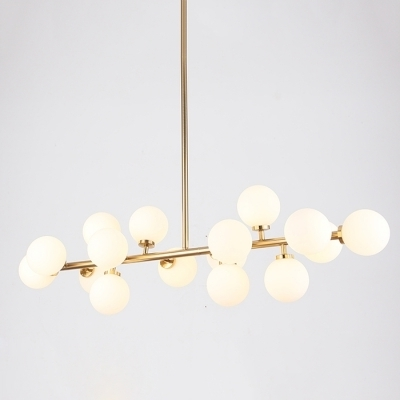 Newest Lateral Chandelier Globe Modern White – Beautifulhalo With Modern White Chandelier (View 9 of 10)