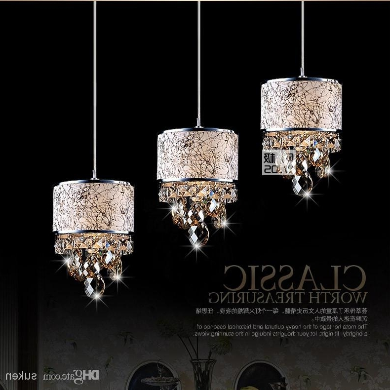 Newest Modern Crystal Chandelier Pendant Light Stair Hanging Light Luxury With Modern Pendant Chandelier Lighting (View 9 of 10)