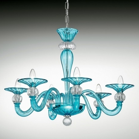 "Newest Turquoise Blue Glass Chandeliers With Regard To Ermione"" Murano Glass Chandelier – Murano Glass Chandeliers (View 2 of 10)"