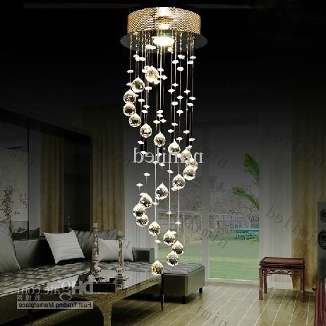 Nimi106 D22/d35/d55/d65/d80 K9 Crystal Chandelier Pendant Droplight In Trendy Chandeliers For Hallways (View 9 of 10)