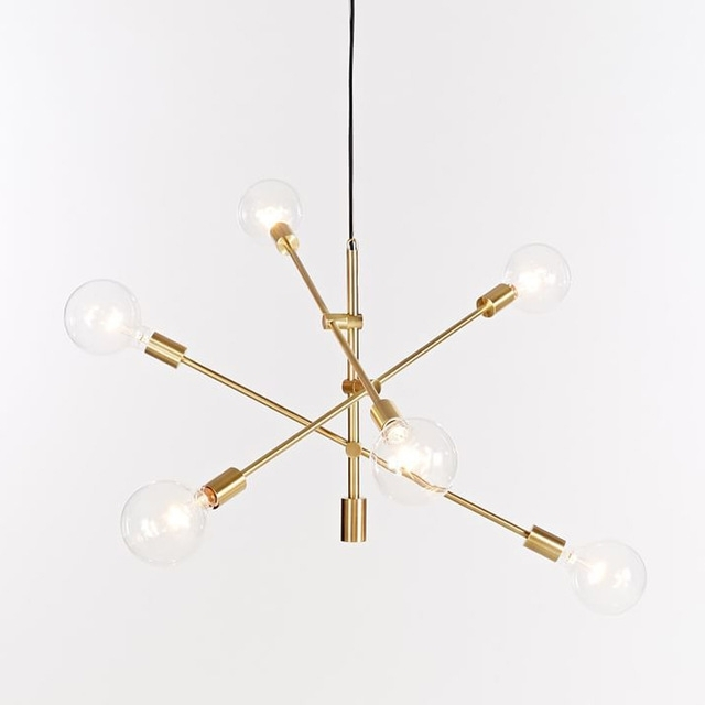 Nordic Round Glass Ball Ceiling Hanging Chandelier Light Lamp Gold Intended For Most Popular Gold Modern Chandelier (View 3 of 10)