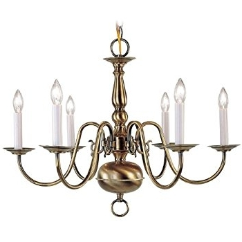 Old Brass Chandelier With 2017 Livex Lighting 5012 01 Williamsburg 12 Light Two Tier (8+4) Antique (View 7 of 10)