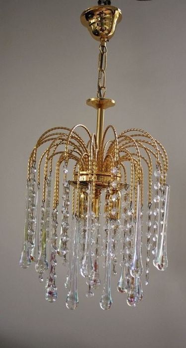 Onbekende Designer – Teardrop Chandelier – Brass And Glass Inside Preferred Brass And Glass Chandelier (View 8 of 10)