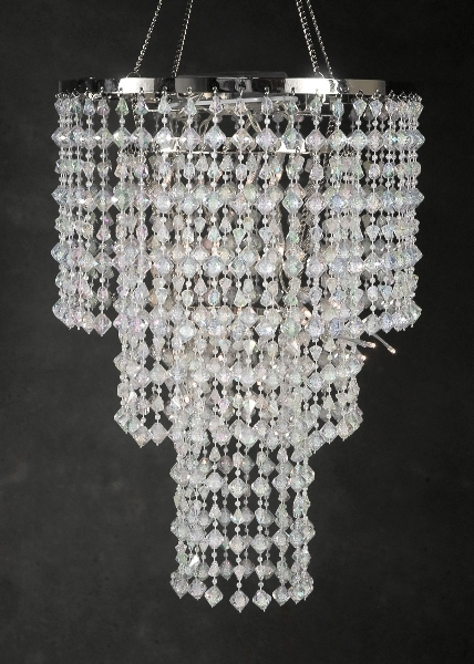"""Operated Chandelier 15"""" Led Crystal Chandelier 3 Tier With Regard To Well Liked 3 Tier Crystal Chandelier (View 5 of 10)"""