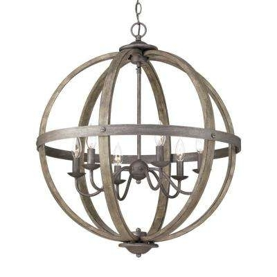 Orb Chandelier Throughout Most Recently Released Globe – Chandeliers – Lighting – The Home Depot (View 2 of 10)