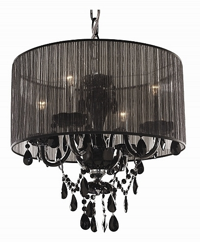Organza Shade Chandeliers Within Most Up To Date Chandeliers With Black Shades (View 8 of 10)